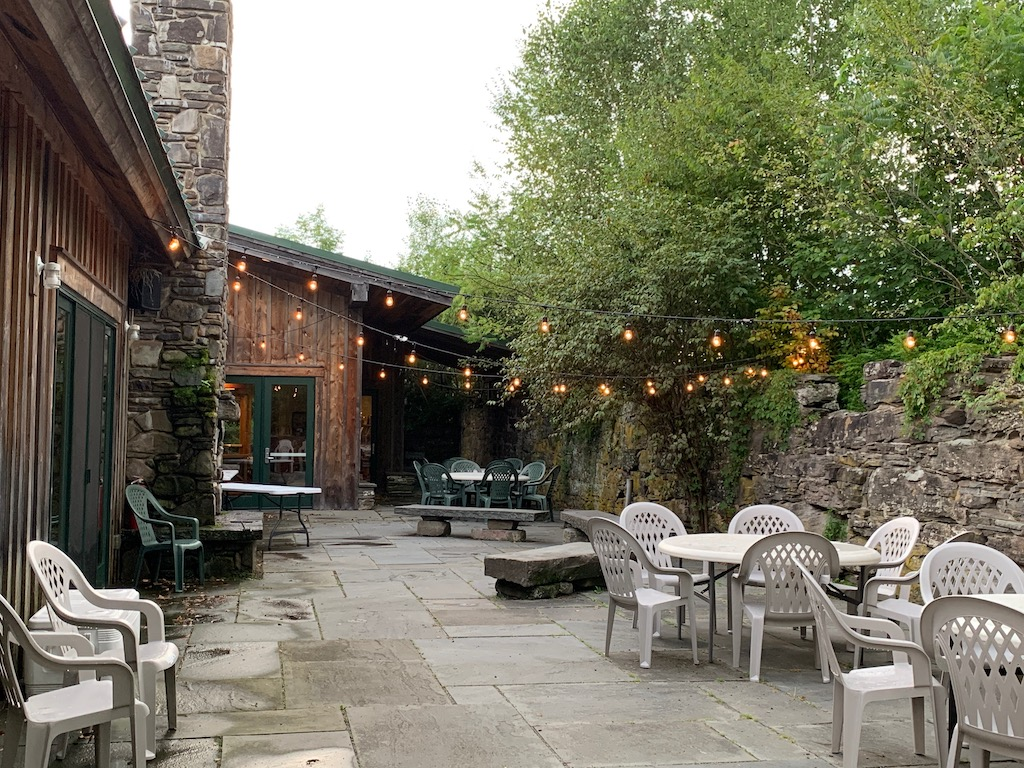 Stone Patio with Seating