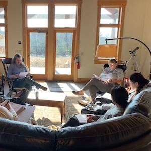 Small Group Working in the Lodge